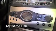 2008 Infiniti G35 3.5L V6 Clock