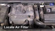 2008 Peugeot 307 XT HDi 2.0L 4 Cyl. Turbo Diesel Air Filter (Engine)
