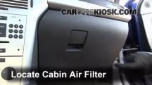 2008 Saturn Astra XR 1.8L 4 Cyl. (4 Door) Filtro de aire (interior)