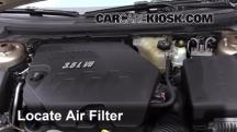 2008 Saturn Aura XE 3.5L V6 Air Filter (Engine)