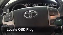 2008 Toyota Land Cruiser 5.7L V8 Compruebe la luz del motor