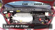 2008 Toyota Sienna CE 3.5L V6 Mini Passenger Van Air Filter (Engine)