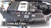 2008 Volkswagen Rabbit S 2.5L 5 Cyl. (2 Door) Air Filter (Engine)