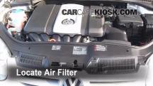 2008 Volkswagen Rabbit S 2.5L 5 Cyl. (2 Door) Filtro de aire (motor)