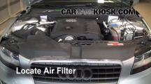2009 Audi A4 Quattro 2.0L 4 Cyl. Turbo Filtro de aire (motor)