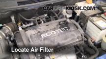 2009 Chevrolet Aveo LS 1.6L 4 Cyl. Filtro de aire (motor)