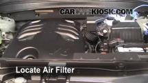 2009 Hyundai Santa Fe Limited 3.3L V6 Air Filter (Engine)