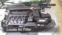 2009 Hyundai Sonata GLS 2.4L 4 Cyl. Filtro de aire (motor)