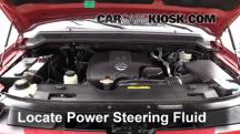 2009 Nissan Armada SE 5.6L V8 FlexFuel Power Steering Fluid