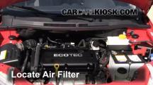 2009 Pontiac G3 1.6L 4 Cyl. Filtro de aire (motor)