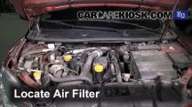 2009 Renault Megane Privilege dCi 1.5L 4 Cyl. Turbo Diesel Filtro de aire (motor)