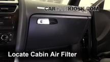 2010 Audi A5 Quattro 2.0L 4 Cyl. Turbo Filtro de aire (interior)