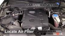 2010 Audi A5 Quattro 2.0L 4 Cyl. Turbo Filtro de aire (motor)