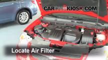 2010 Chevrolet Cobalt LT 2.2L 4 Cyl. Sedan (4 Door) Filtro de aire (motor)