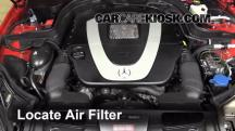 2010 Mercedes-Benz E350 3.5L V6 Coupe (2 Door) Air Filter (Engine)