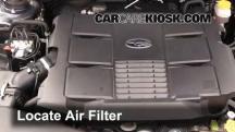 2010 Subaru Legacy 3.6R Limited 3.6L 6 Cyl. Filtro de aire (motor)
