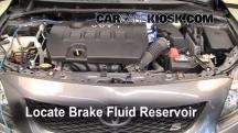 2010 Toyota Corolla S 1.8L 4 Cyl. Brake Fluid