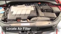 2010 Volkswagen Jetta TDI 2.0L 4 Cyl. Turbo Diesel Sedan Filtro de aire (motor)