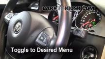 2010 Volkswagen Passat Komfort 2.0L 4 Cyl. Turbo Wagon Clock