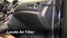 2011 Chevrolet Cruze LT 1.4L 4 Cyl. Turbo Filtro de aire (interior)