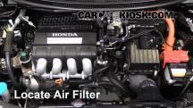 2011 Honda CR-Z EX 1.5L 4 Cyl. Filtro de aire (motor)