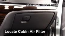2011 Hyundai Santa Fe GLS 2.4L 4 Cyl. Filtro de aire (interior)