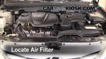 2011 Hyundai Sonata GLS 2.4L 4 Cyl. Filtro de aire (motor)