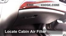 2011 Infiniti M37 X 3.7L V6 Filtro de aire (interior)