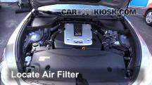 2011 Infiniti M37 X 3.7L V6 Filtro de aire (motor)