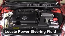 2011 Nissan Altima SR 3.5L V6 Sedan Power Steering Fluid
