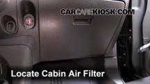 2011 Nissan Cube S 1.8L 4 Cyl. Filtro de aire (interior)