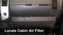 2011 Nissan Xterra S 4.0L V6 Filtro de aire (interior)