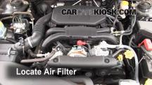 2011 Subaru Legacy 2.5i Premium 2.5L 4 Cyl. Air Filter (Engine)