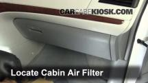2011 Toyota Sienna XLE 3.5L V6 Filtro de aire (interior)
