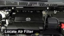 2011 Toyota Sienna XLE 3.5L V6 Filtro de aire (motor)