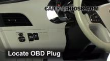 2011 Toyota Sienna XLE 3.5L V6 Compruebe la luz del motor