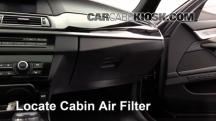 2012 BMW 550i xDrive 4.4L V8 Turbo Filtro de aire (interior)