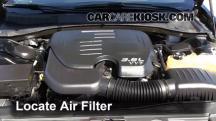 2012 Chrysler 300 Limited 3.6L V6 Filtro de aire (motor)