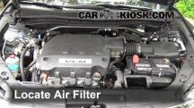 2012 Honda Crosstour EX-L 3.5L V6 Filtro de aire (motor)