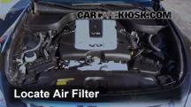 2012 Infiniti G25 X 2.5L V6 Air Filter (Engine)