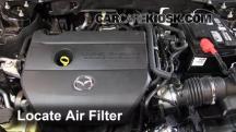 2012 Mazda 6 i 2.5L 4 Cyl. Filtro de aire (motor)