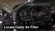 2012 Porsche Boxster 2.9L 6 Cyl. Filtro de aire (interior)