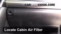 2012 Toyota Camry LE 2.5L 4 Cyl. Filtro de aire (interior)