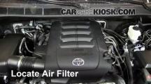 2012 Toyota Sequoia SR5 4.6L V8 Filtro de aire (motor)