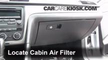 2012 Volkswagen Passat S 2.5L 5 Cyl. Sedan (4 Door) Filtro de aire (interior)