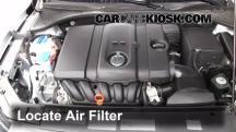 2012 Volkswagen Passat S 2.5L 5 Cyl. Sedan (4 Door) Filtro de aire (motor)