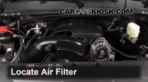 2008 Chevrolet Silverado 1500 LT 5.3L V8 Extended Cab Pickup (4 Door) Filtro de aire (motor)