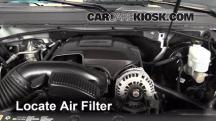 2013 Chevrolet Tahoe LT 5.3L V8 FlexFuel Filtro de aire (motor)