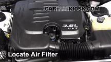 2013 Dodge Charger SE 3.6L V6 FlexFuel Filtro de aire (motor)