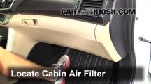 2013 Honda Accord EX-L 2.4L 4 Cyl. Sedan Filtro de aire (interior)